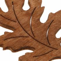 Spredt deco blad ahorn egetræ 4cm 72p