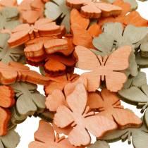 Streudeko sommerfugl træ sommerfugle sommerdekoration orange, abrikos, brun 144p