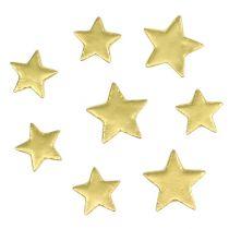 Spredte stjerner blander 4-5 cm guldmatte 72stk