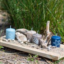Søjlelys 60/50 Maritim dekoration Lys Sommer Dekoration Mix Safe Candle 4stk