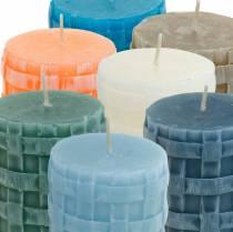 Søjlelys Rustikt 80/65 lys forskellige farver 2stk