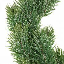 Kunstig gran krans Adventskrans grøn, iset Ø35cm