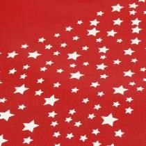 Bærepose rød med stjerner 38cm x 46cm 24stk