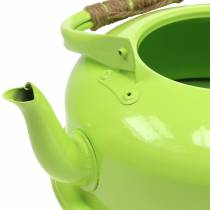 Planter te kedel zink kan grøn Ø26cm H15cm