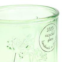 Dekorativt glasvind lysgrønt / gult Ø9cm H9cm 6stk