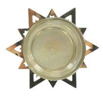 Telysholder stjerne guld 23,5 cm 4stk