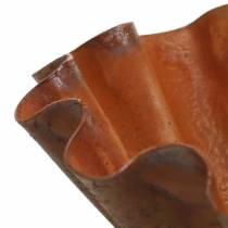 Dekorativ skål, bagepladeudseende, rustfrit stålgitter Ø12,5cm H4cm