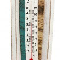 Termometer i træbådform til at hænge 46 cm 1 stk