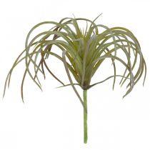 Tillandsia kunstig at klæbe Grøn-lilla kunstig plante 13cm