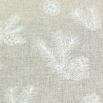 Bordbånd med granmotiv grå 20 cm 5m