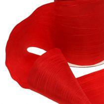 Bordbånd rød nedbrud 100mm 15m