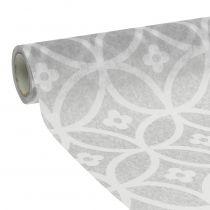 Bordbånd ikke-vævet med mønstergrå 30 cm x 300 cm