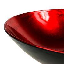 Borddekorationsskål rød Ø28cm plast