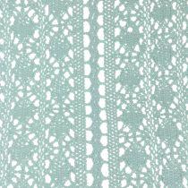 Bordløber hæklet blonder mintgrøn 30 cm x 140 cm
