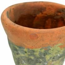 Planter potteplanter vintage naturlig ler Ø14,5cm H12cm 2stk