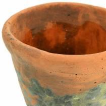 Plante potteplanter vintage naturlig ler Ø11,5cm H9cm 3stk