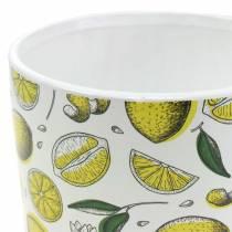 Planter Lemon Yellow Ø8 / 10 / 13cm, sæt med 3