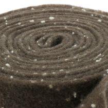 Pot tape filt tape brun med prikker 15cm x 5m