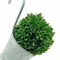Blomsterpotte til hængende vintage look Plantepotte grøn hvidvasket Ø11,5cm