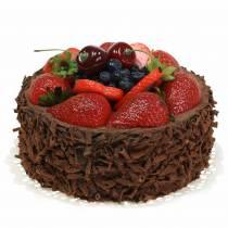 Chokolade fløde kage kunstigt Ø15cm H11,5cm