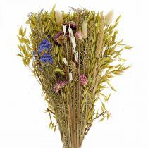 Tørrede blomsterbuket naturlig lyserød 45cm