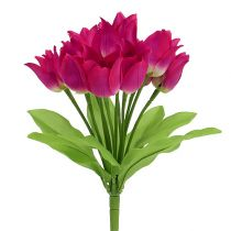 Tulipan bush lyserød L 30cm