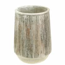 Planter vas betontræ design Ø15cm