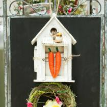 Fuglehus til hængende hvid H25,5cm