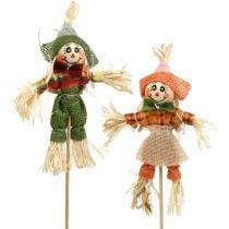 Fugleskræmsel til at dekorere på pinden efterårsdekoration 24stk