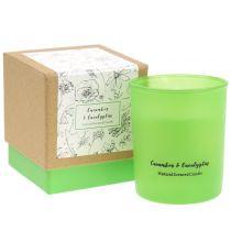 Duftlys i et glas agurk-eukalyptus Ø7cm