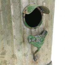 Dekorativt fuglehus til at hænge antikgrøn H26cm