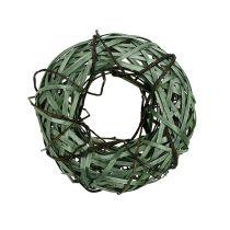 Flettet krans lille grøn Ø28cm