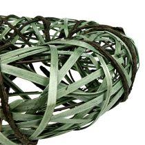 Flettet krans medium grøn Ø33cm