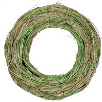 Bastkrans med pil natur / grøn Ø40cm