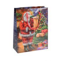 Papirbærerpose Julemanden 11cm x 13.5cm