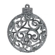 Julekugle sølv Ø6cm 16stk