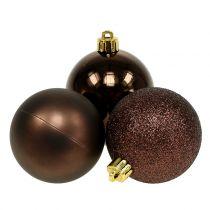 Julebauble chokolade brun blanding Ø6cm 10stk