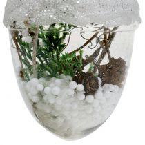 Juletrædekorationer sne klode Ø8cm 2stk