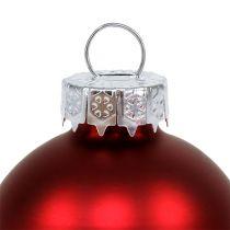 Julekugleglas Ø6cm rød blanding 24stk