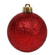 Julekugleblanding assorteret rød Ø3.5cm - Ø5.5cm 30stk