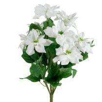 Julestjerne buket hvid L45cm