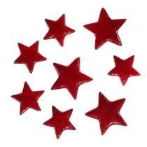 Julestjerneblanding 4-5cm rød blank 72stk