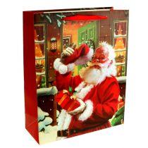 Julepose med julemanden 32cm x26cm x10cm