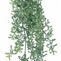 Grøn plante hængende kunstigt hængende plante med knopper grøn, hvid 100cm
