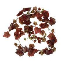 Vine blade krans mørkerød 190cm