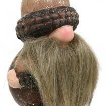 Gnome keramiske kegler og agern dekorative stik 8 / 8,5 cm 4 stk