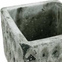 Plantepotte, keramikbeholder, borddekoration antik optik H8cm 4stk
