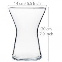 X-glas vase klar Ø14cm H19cm