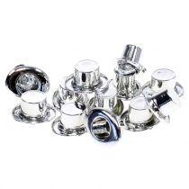 Cylinder mini sølv 12stk