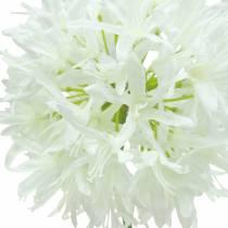 Pyntealium kunstigt hvidt Ø12cm H62cm